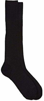 Barneys New York Men's Rib-Knit Over-The-Calf Socks $35 thestylecure.com