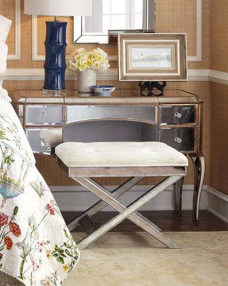 Horchow Claudia Mirrored Vanity/Desk & Vanity Seat