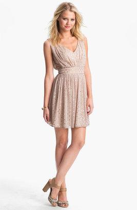 As U Wish Foil Dot Party Dress (Juniors)