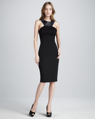 Sachin + Babi Keeley Leather-Accent Dress