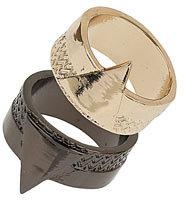 Topshop Two Band Diamond Ring