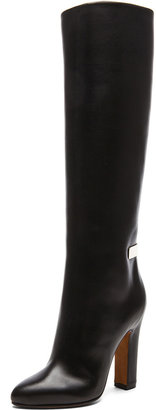 Givenchy Metal Barrette Calfskin Leather Boots in Black