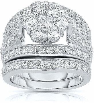 JCPenney MODERN BRIDE 3 CT. T.W. Diamond 14K White Gold Bridal Ring Set