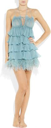 Jenny Packham Swarovski crystal-embellished silk-satin thong