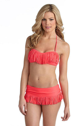 Jessica Simpson Welcome to the Jungle Fringe Bandeau Swim Top
