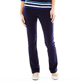 Liz Claiborne Slim Straight Ponte Pants