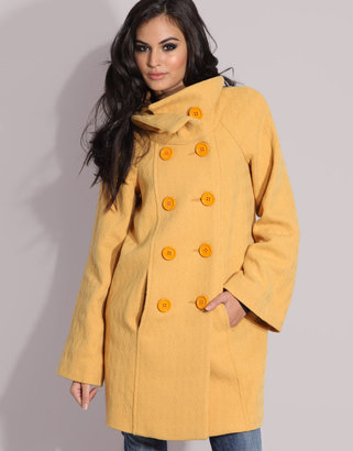 Miss Sixty Funnel Necked Double Breasted Swing Coat