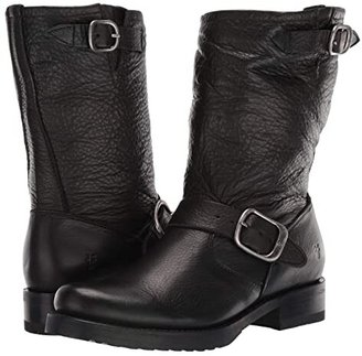 Frye Veronica Short (Black Soft Vintage Leather) Cowboy Boots