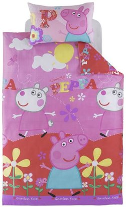 Peppa Pig Single Bed Duvet Cover And Pillowcase Set