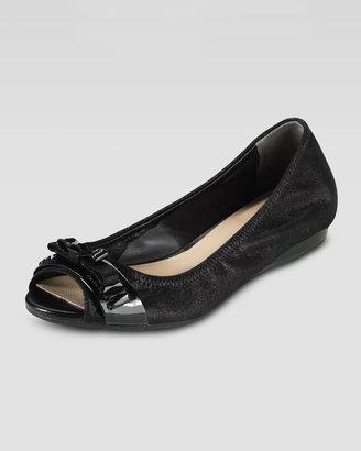 Cole Haan Janine Open-Toe Ballerina, Black
