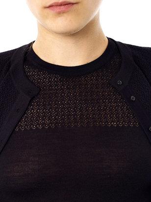 Azzedine Alaia Textured panel cardigan twin set