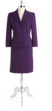 Tahari ARTHUR S. LEVINE Two-Piece Square-Button Skirt Suit
