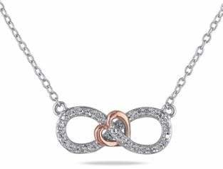 Concerto Two-Tone Diamond Infinity Knot Necklace