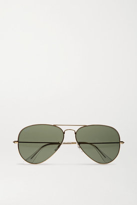 Ray-Ban - Aviator Gold-tone Sunglasses - one size $150 thestylecure.com