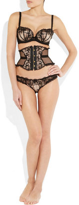 Agent Provocateur Petronella lace and satin underwired bra