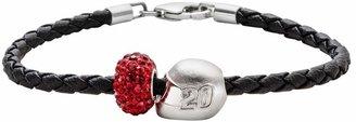 "Insignia Collection NASCAR Matt Kenseth Leather Bracelet & Sterling Silver ""20"" Helmet Bead Set"