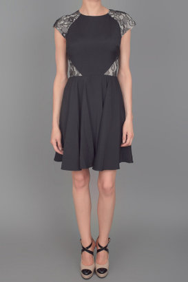 Erin Fetherston Lace Inset Dress Black