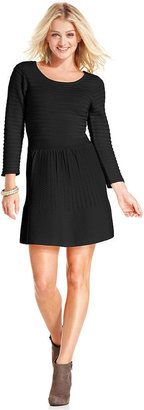 Jessica Simpson Dress, Long Sleeve Grivola Textured Sweater Dress