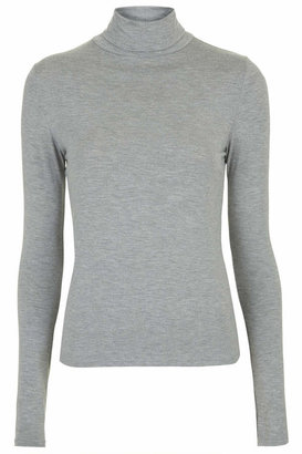 Topshop Long sleeve roll neck top