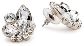 Nina Bridal Toulouse Clear Swarovski and Czech Crystal Cluster Stud