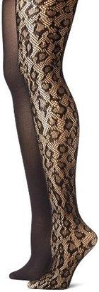 Betsey Johnson Women's Two-Pack Leopard Net Tights