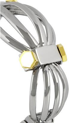 Eddie Borgo Manifold silver-tone and gunmetal cuff