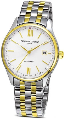 Frederique Constant Classics Index Automatic Two-Tone Watch, 40mm $1,650 thestylecure.com