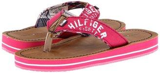 Tommy Hilfiger GG Flip Flop Rose Solid (Little Kid/Big Kid) (Fuchsia) - Footwear