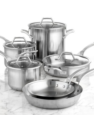 """Calphalon AccuCore Stainless Steel 10 Piece Cookware Set"""""""