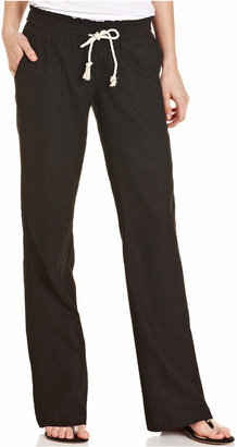 Roxy Juniors' Oceanside Wide-Leg Drawstring Pants $39.50 thestylecure.com