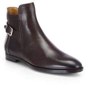 Ralph Lauren Quilita Double-Buckle Leather Boots