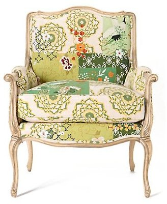 Anthropologie Antwerp Chair, Asian Patchwork