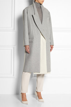 Stella McCartney Curtis oversized two-tone wool-blend felt coat