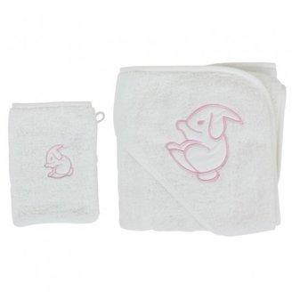 White Rabbit England Pink Cuddle Robe & Wash Mitt