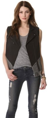 Leon Francis Sideswipe Leather Vest