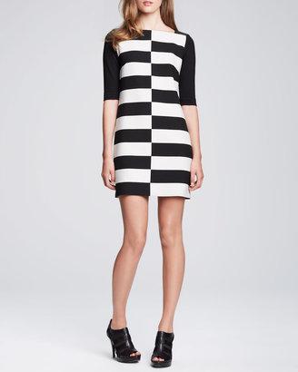 Milly Shifted-Stripe Jersey Dress