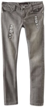 Baby Phat Girl's 7-16 Rips and Sequins Jean