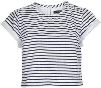 Topshop Petite Denim Stripe T-Shirt