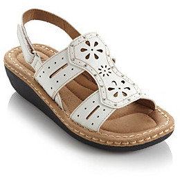 """White Mountain Cliffs by Caramba"""" Slingback Wedge"""