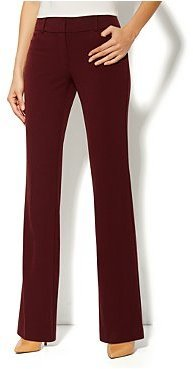 New York & Co. 7th Avenue Bootcut Pant - Double Stretch - Black Cherry - Average