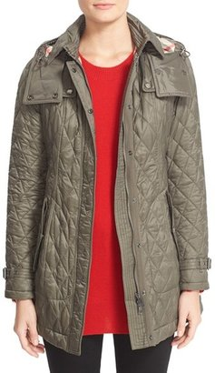 Women's Burberry Finsbridge Belted Quilted Jacket $795 thestylecure.com