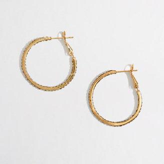 J.Crew Factory Factory crystal hoop earrings