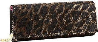 Betsey Johnson Sequin Leopard Clutch