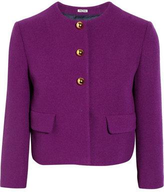 Miu Miu Cropped wool-blend jacket