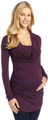 Olian Women's Maternity Rouched Side Shirt