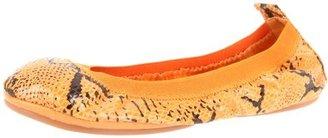 Yosi Samra Women's Snakeskin Ballet Flat
