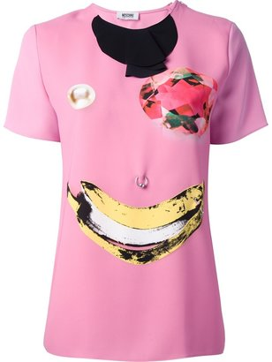 Moschino Cheap & Chic abstract face print t-shirt