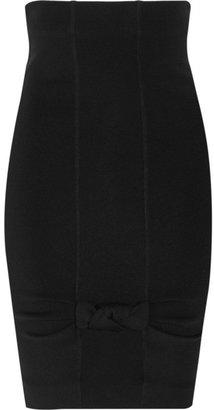 Valentino Roma Stretch wool-blend skirt