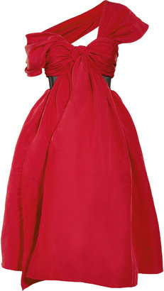 Prabal Gurung Draped silk-faille dress