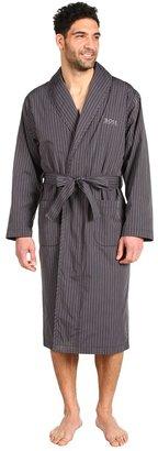 HUGO BOSS Shawl Collar Woven Robe (Grey) - Apparel